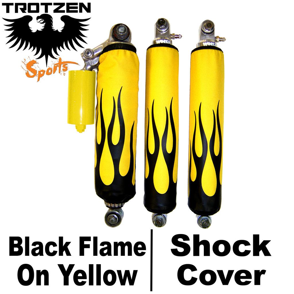 Yamaha Banshee Black Flame On Yellow Shock Covers