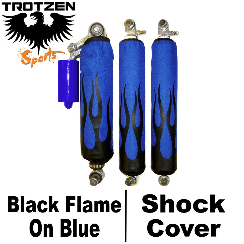 Red Flame Shock Covers Suzuki LTZ400 z400 Shocks, Struts & Suspension