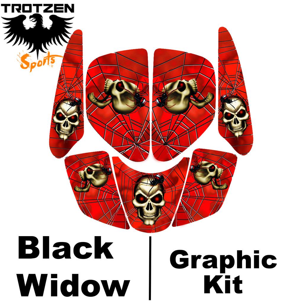 Polaris Predator 90 Black Widow Graphic Kits