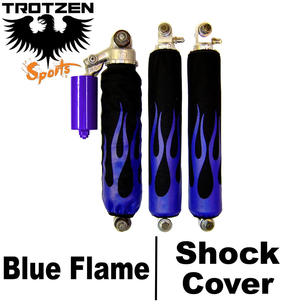 Yamaha Banshee Blue Flame Shock Covers