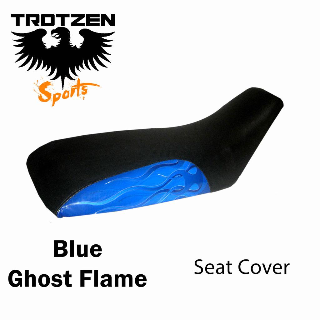 Polaris Scrambler 500 96-03 Blue Ghost Flame Seat Cover