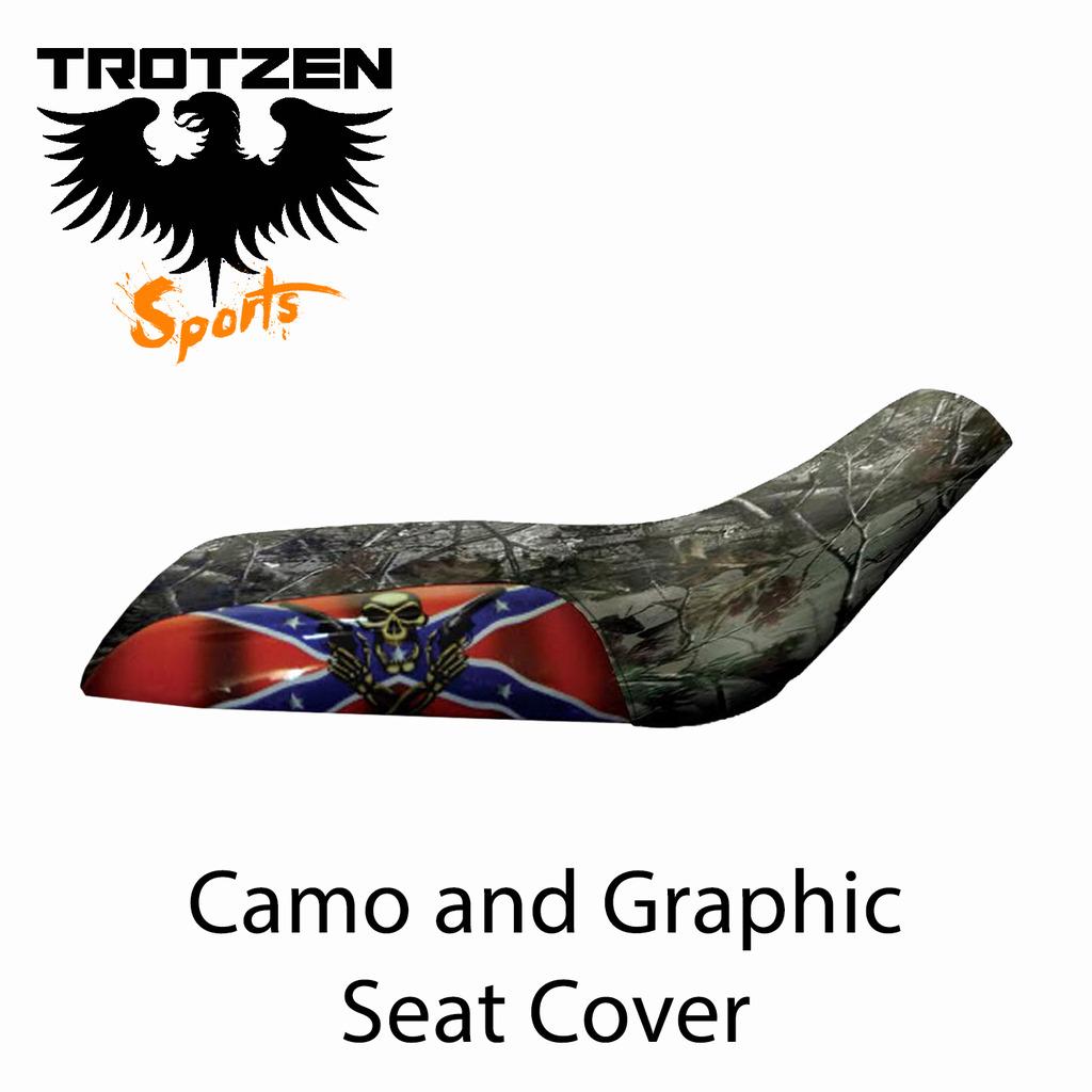 Polaris Predator 90 Camo Rebel Skull Seat Cover