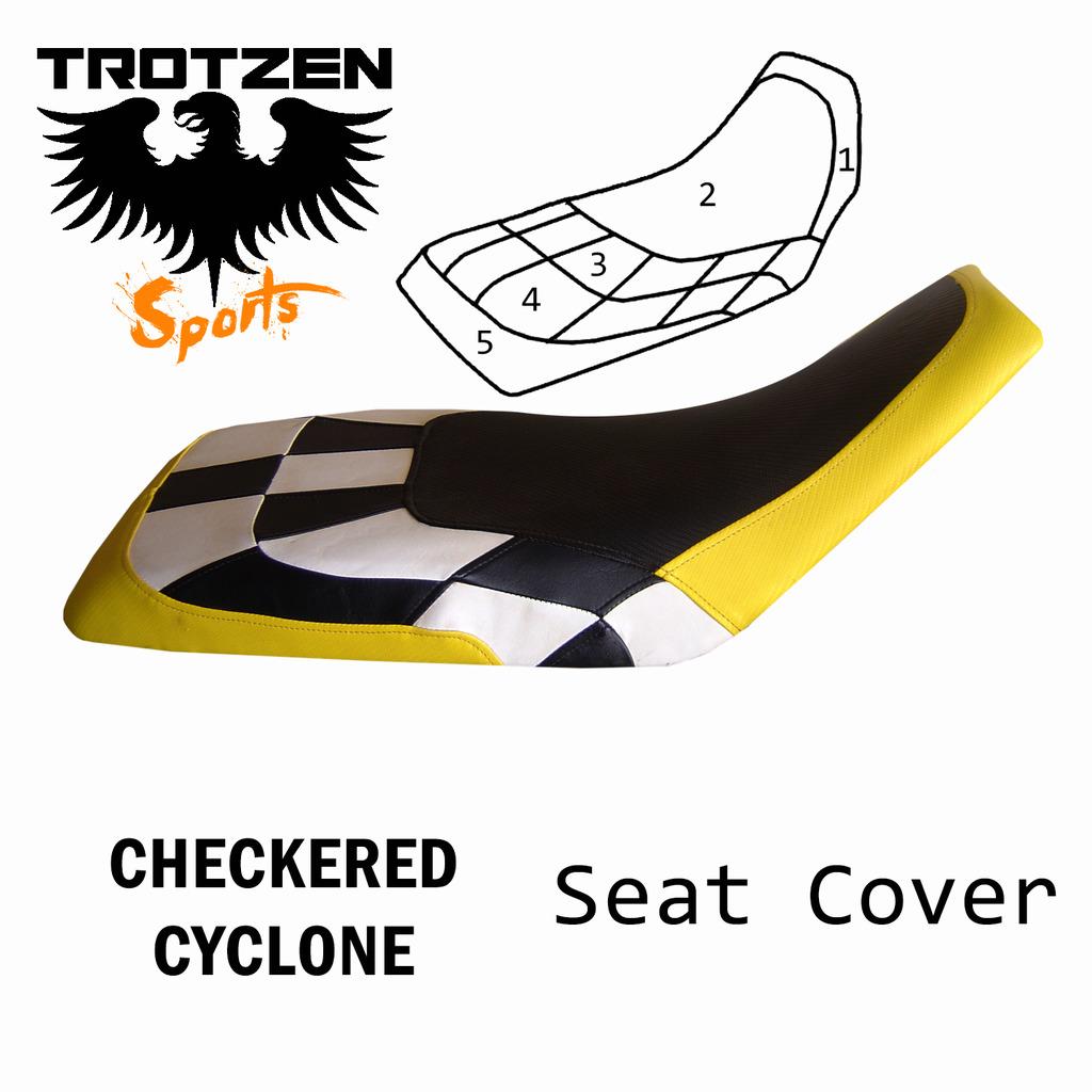 Polaris Predator 90 Checkered Cyclone Seat Cover