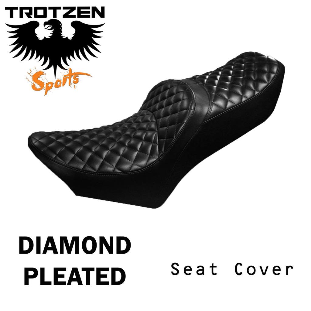 Suzuki TC120 70-71 TC 120 Diamond Pleated Seat Cover