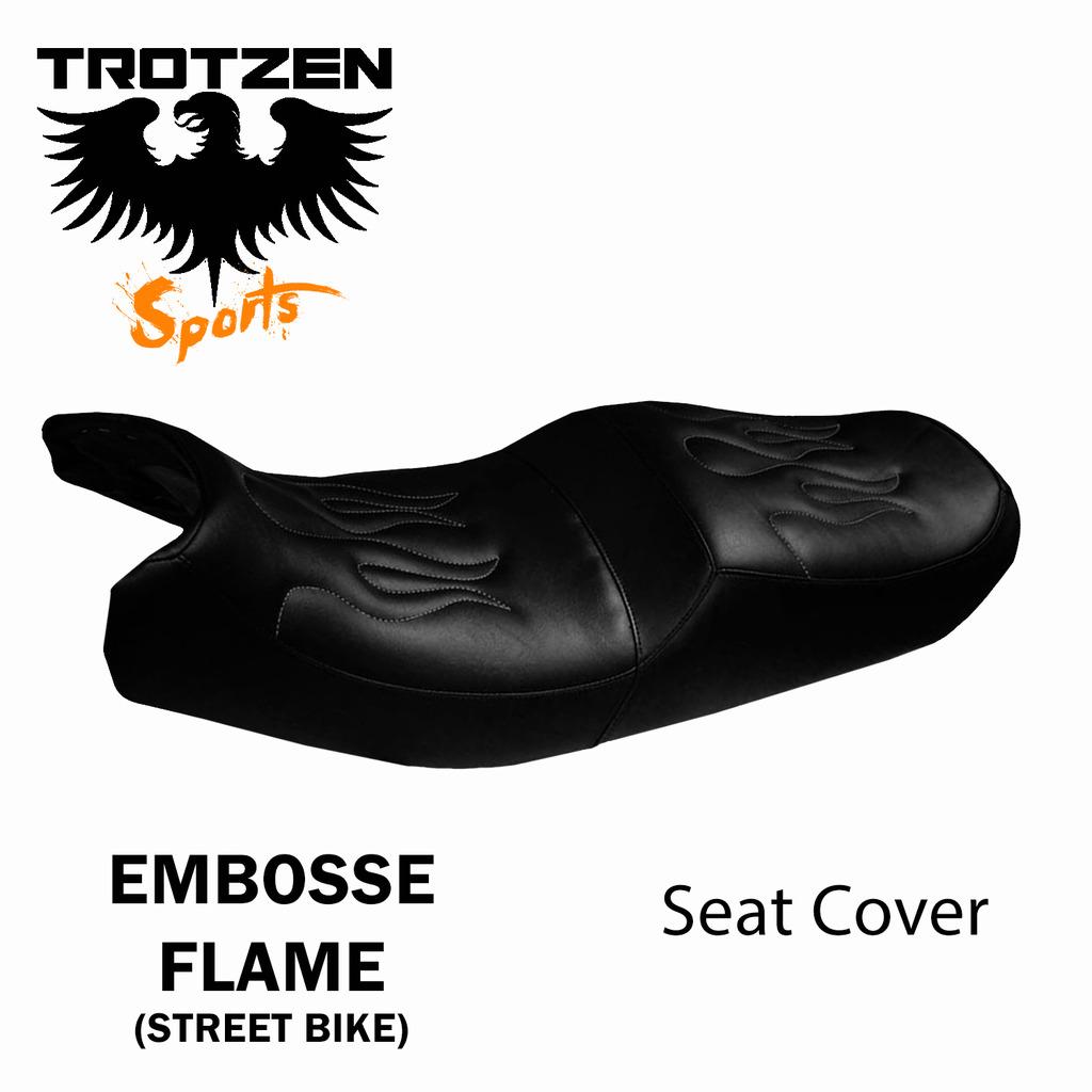 Suzuki TC120 70-71 TC 120 Embossed Flame Seat Cover