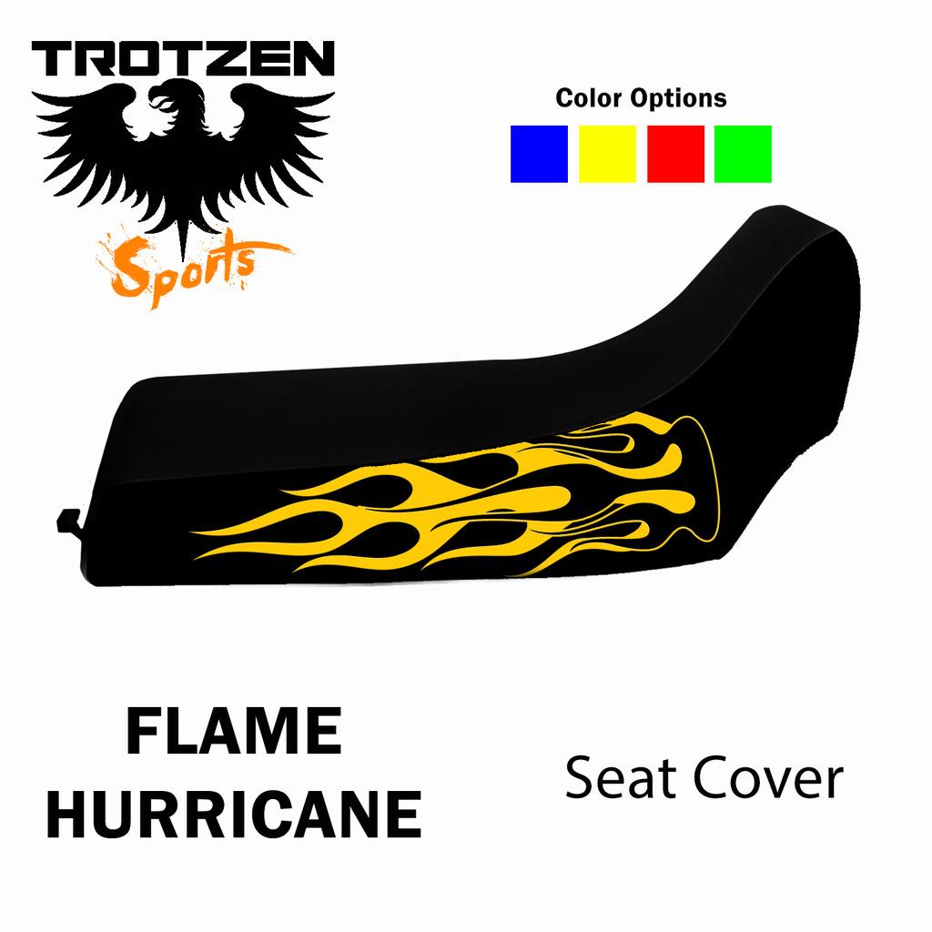 Polaris Predator 90 Flame Hurricane Seat Cover