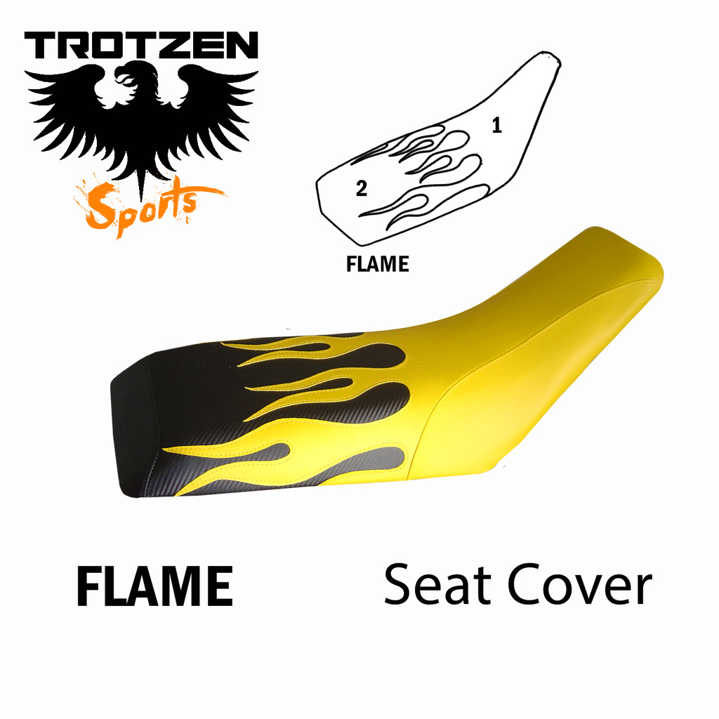 Polaris Predator 90 Flame Seat Cover