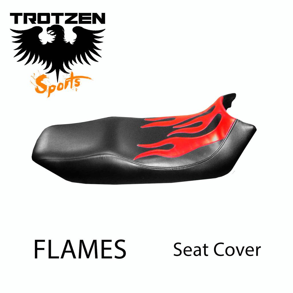 Suzuki TC120 70-71 TC 120 Flames Seat Cover