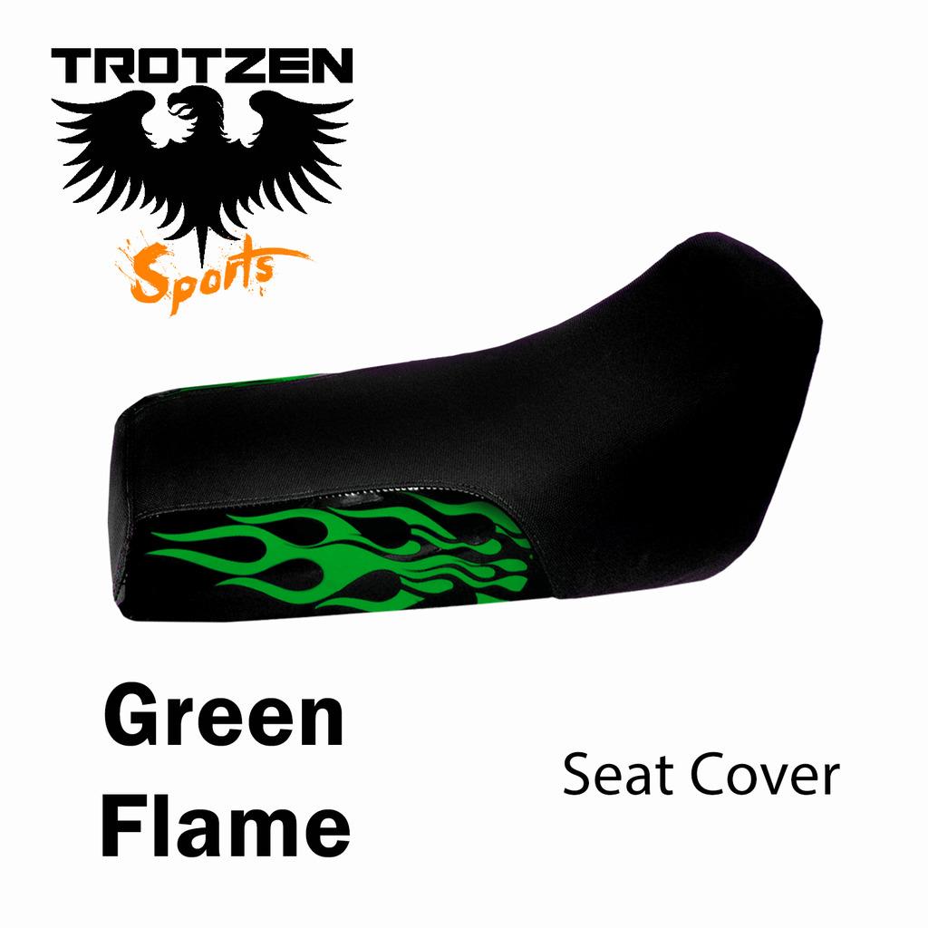 Polaris Outlaw Green Flame Seat Cover
