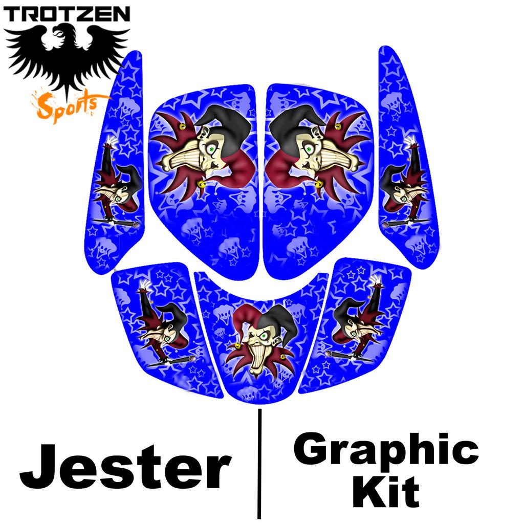 Polaris Predator 90 Blue Jester Graphic Kits