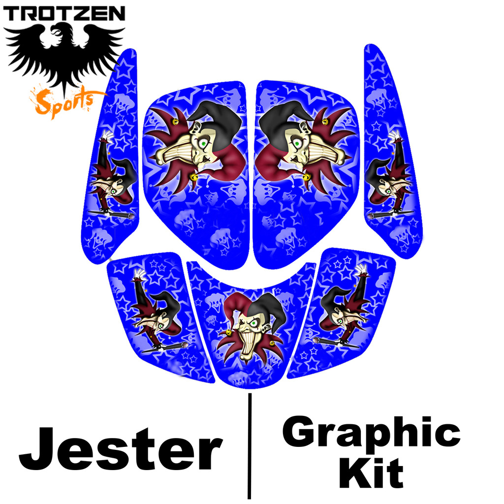 Polaris Trailblaser Blue Jester Graphic Kits