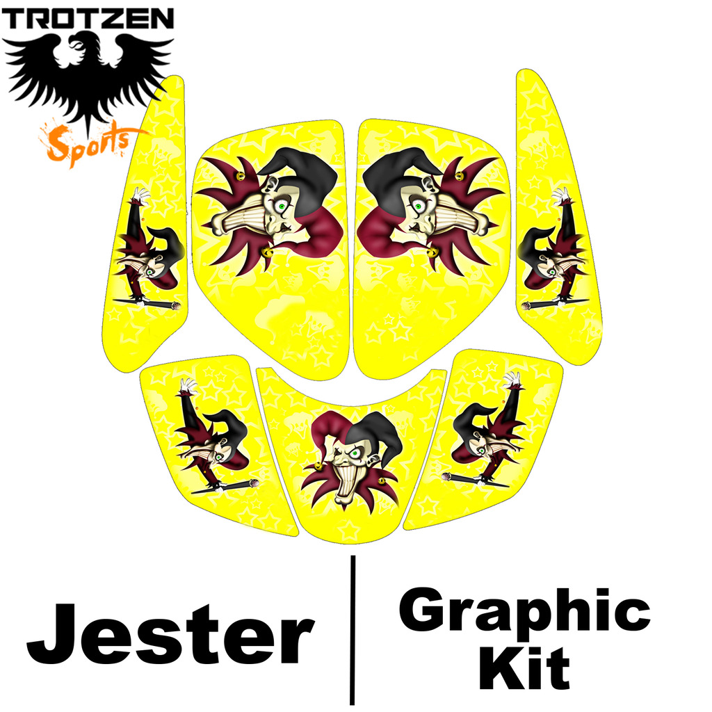 Bombardier DS650 DS 650 Yellow Jester Graphic Kits