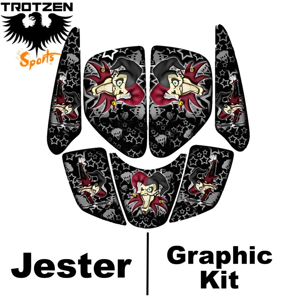 Polaris Predator 90 Black Jester Graphic Kits