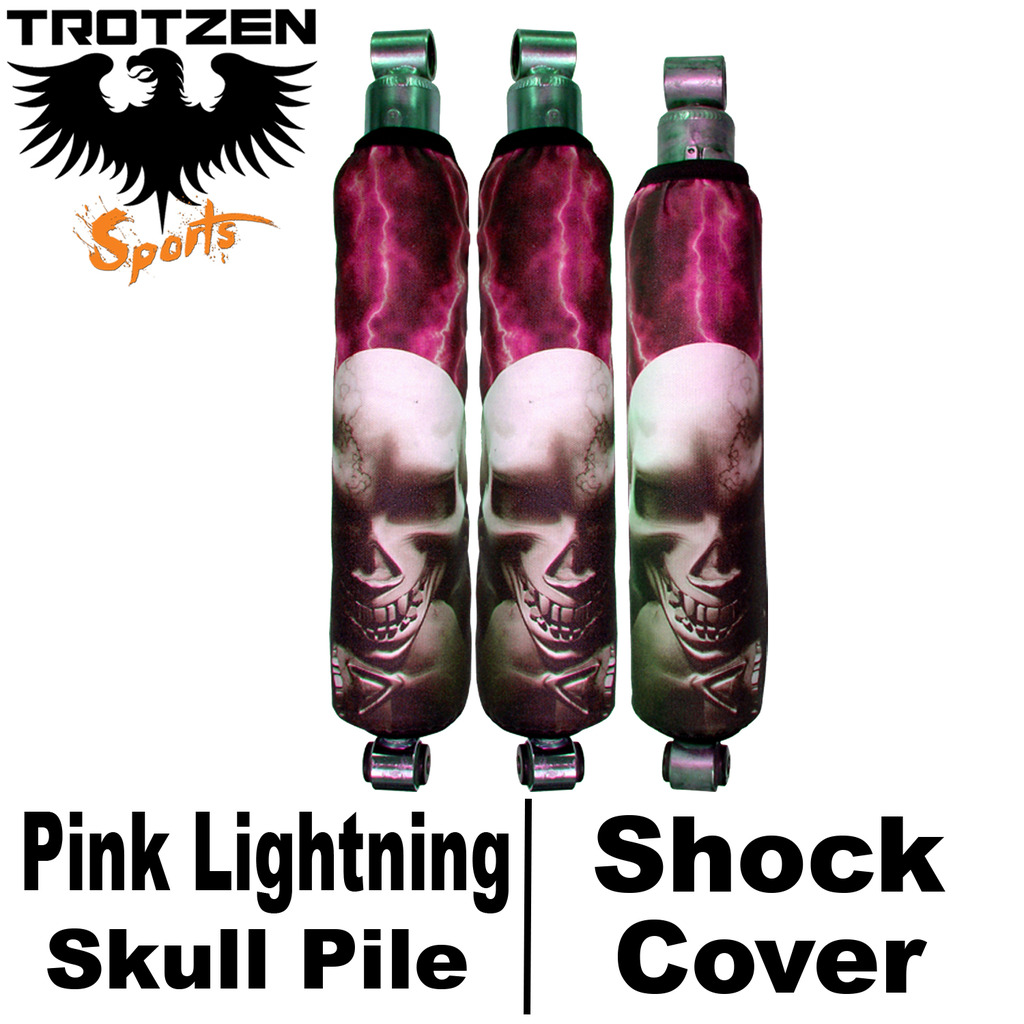 Kawasaki KFX 400 Pink Lightning Skull Pile Shock Covers