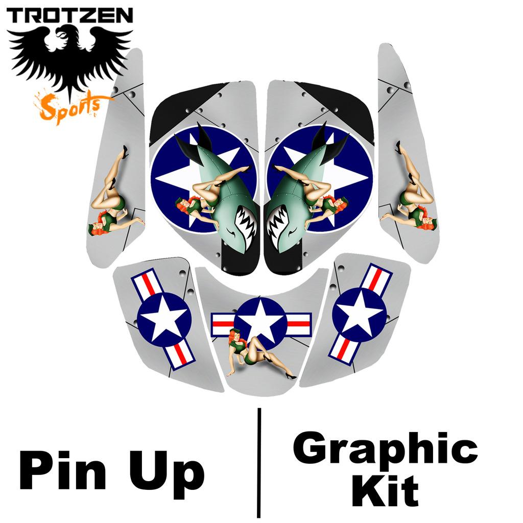 Polaris Scrambler Pin Up Graphic Kits