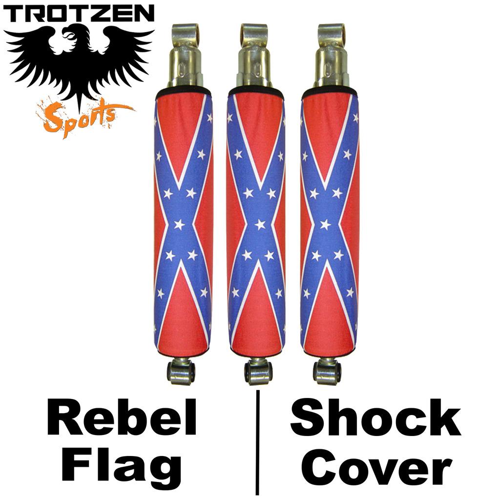 Yamaha Warrior Rebel Flag Shock Covers