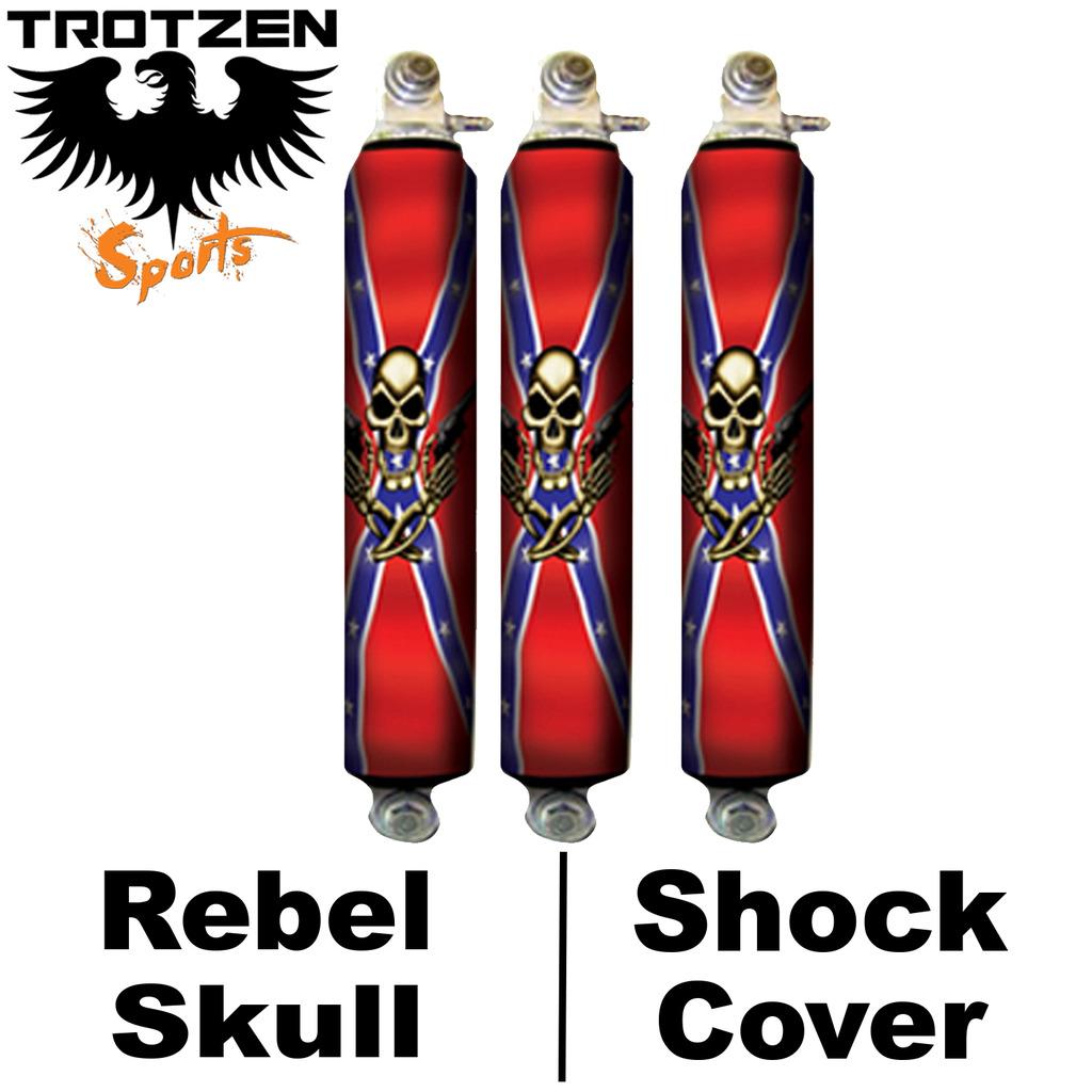 Yamaha Warrior Rebel Skull Shock Covers