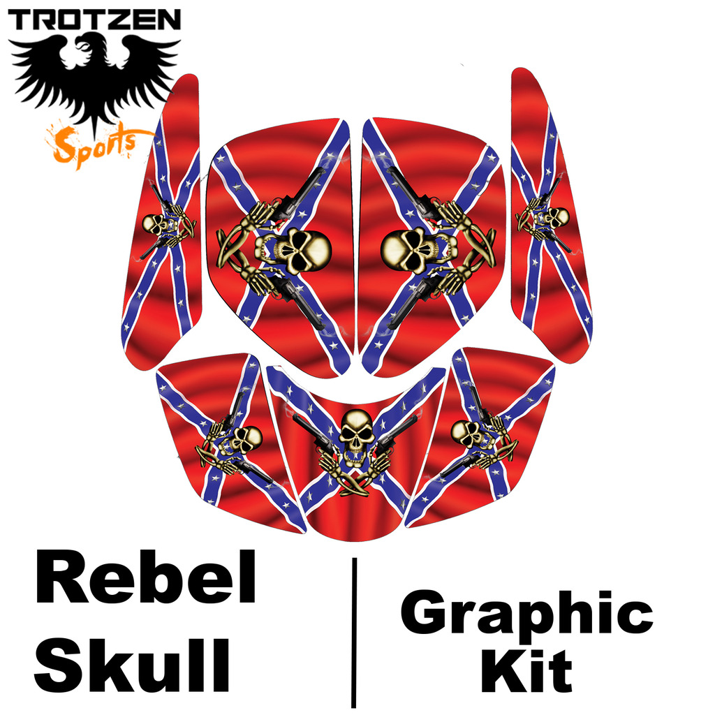 Polaris Scrambler Rebel Skull Graphic Kits