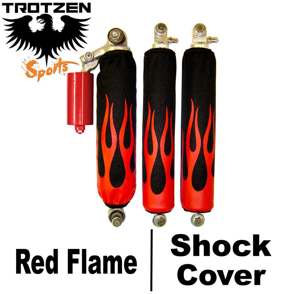 Yamaha YFZ 450 Red Flame Shock Covers
