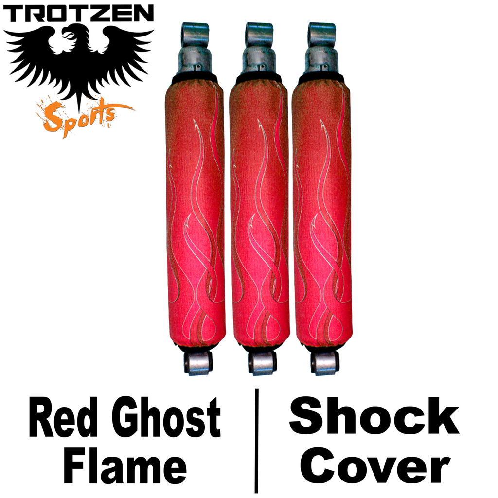 Yamaha Banshee Red Ghost Flame Shock Covers