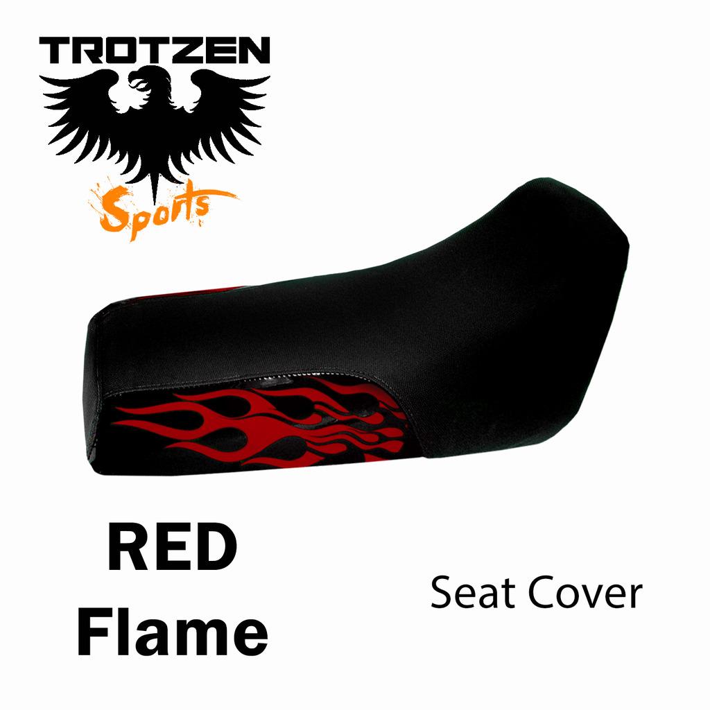 Polaris Predator 90 Red Flame Seat Cover