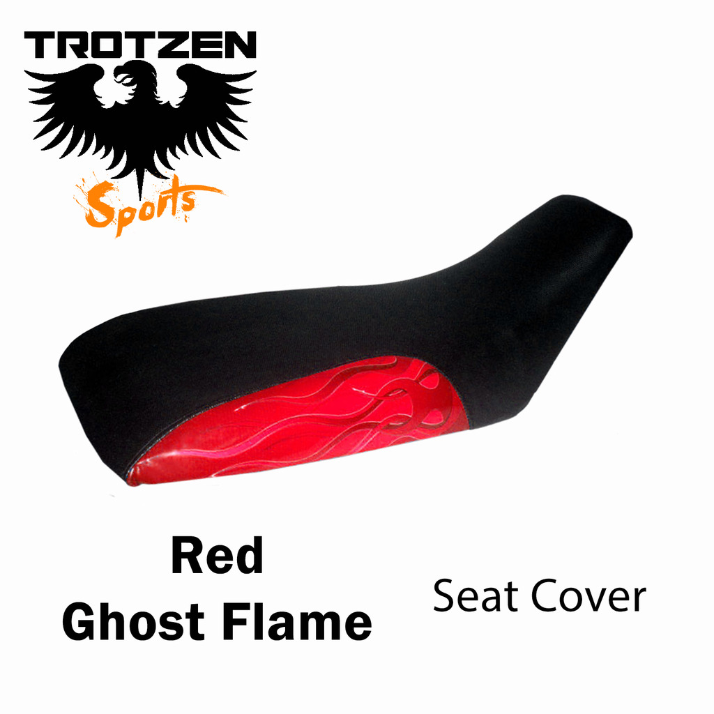 Polaris Predator 90 Red Ghost Flame Seat Cover