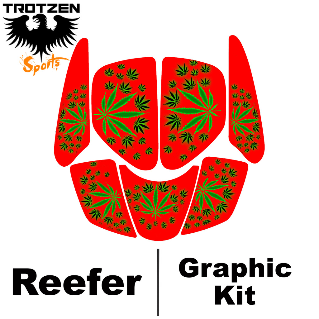 Kasea 50 - 90 - 110 Quad Red Reefer Graphic Kits
