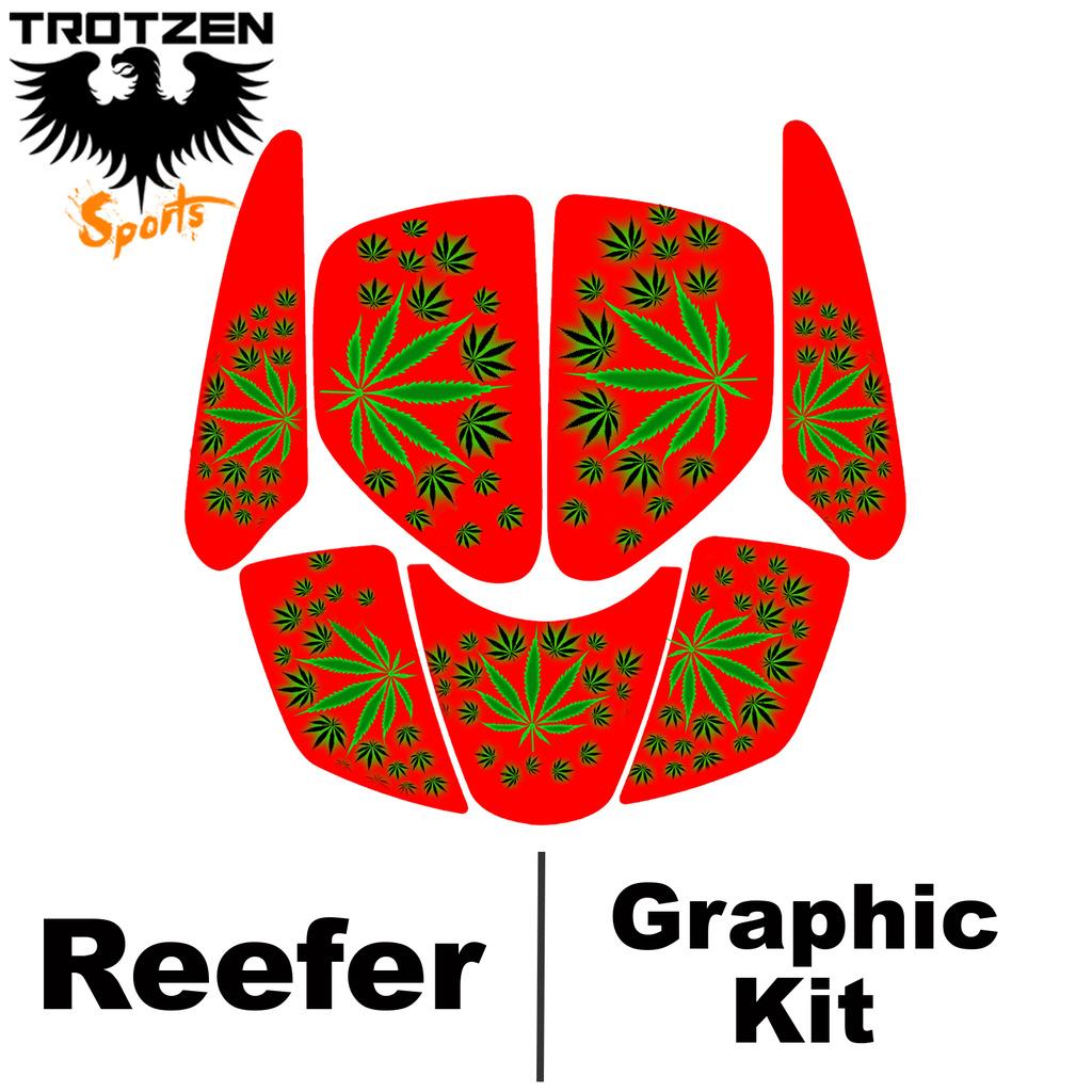 Polaris Scrambler Red Reefer Graphic Kits