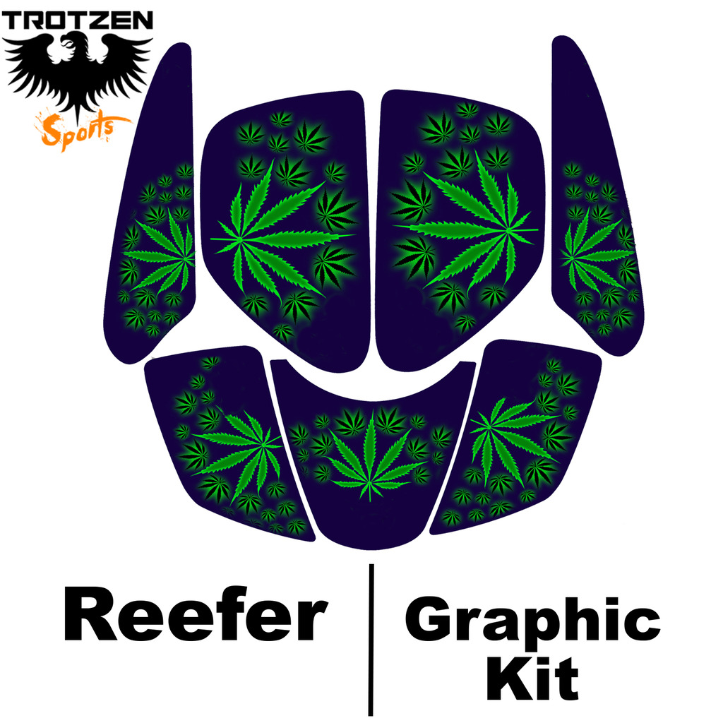 Polaris Trailblaser Blue Reefer Graphic Kits