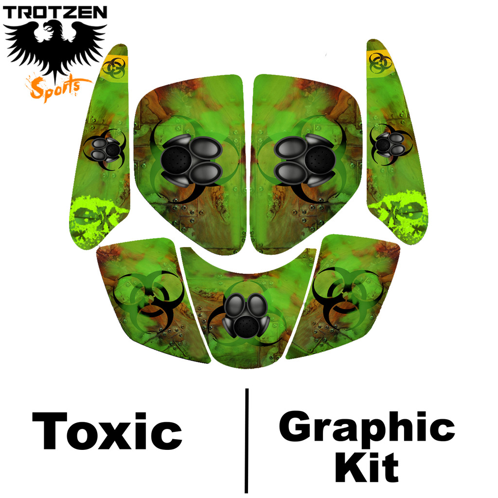 Bombardier DS650 DS 650 Toxic Graphic Kits