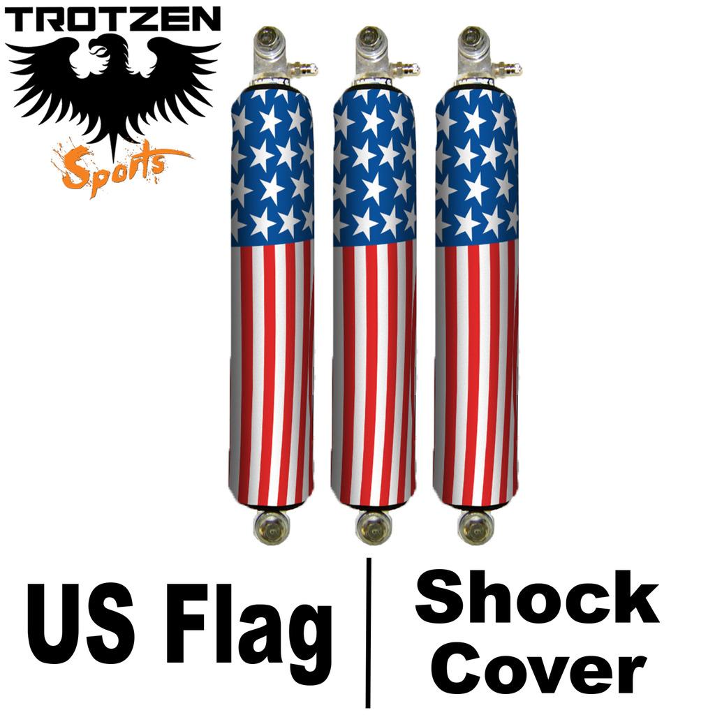 Kawasaki Prairie US Flag Shock Covers