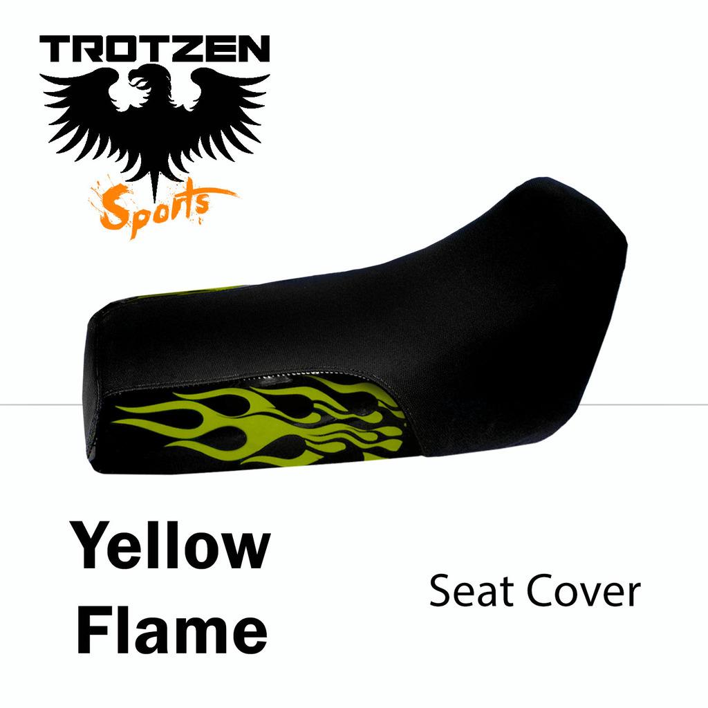 Honda ATC 200ES 84 Yellow Flame Seat Cover