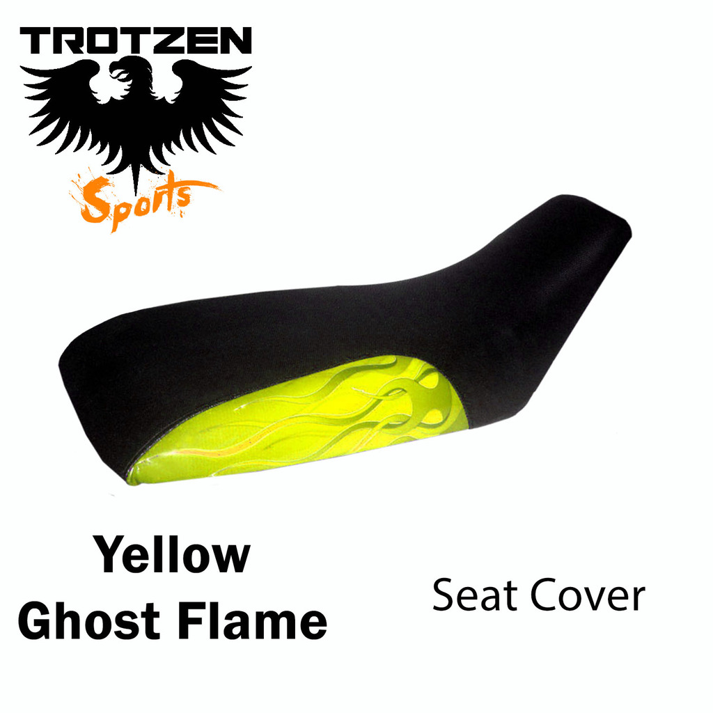 Apex 90 Yellow Ghost Flame Seat Cover