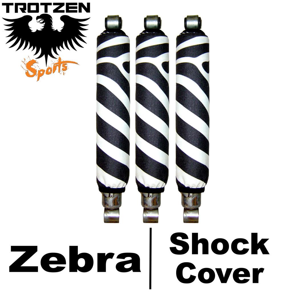 Honda 400X Zebra Shock Covers