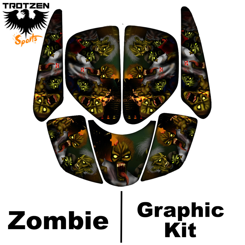Honda TRX90 TRX 90 Zombie Graphic Kits