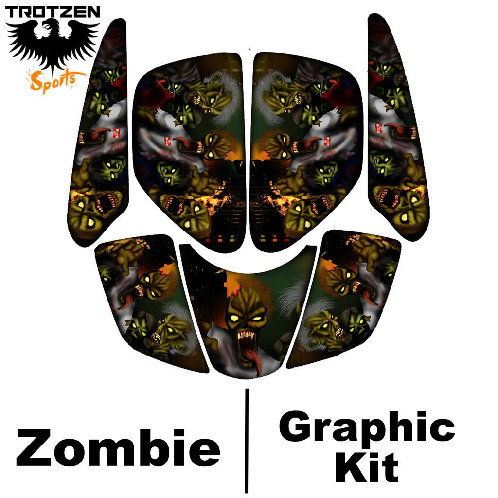 Yamaha YFZ450 YFZ 450 Zombie Graphic Kits